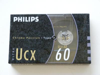 kazeta Philips UCX 60, typ II, 1990-93