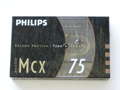 kazeta Philips MCX 75, typ II, 1990-93