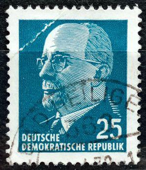DDR: MiNr.934 Chairman Walter Ulbricht 25pf 1963