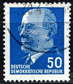 DDR: MiNr.937 Chairman Walter Ulbricht 50pf 1963
