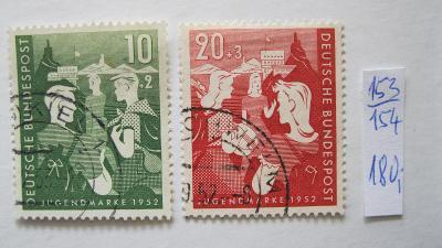 Německo BRD - razítkované známky katalogové číslo 153/154