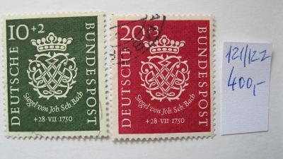 Německo BRD - razítkované známky katalogové číslo 121/122