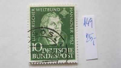 Německo BRD - razítkovaná známka katalogové číslo 149