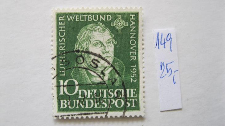 Německo BRD - razítkovaná známka katalogové číslo 149 - Filatelie