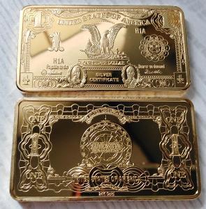 USA Sběratelská Cihlička 1 dolar dollar cihla orlice pozlacená