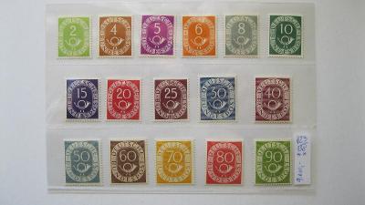 Německo BRD - čistá série známek katalogové číslo 123/138