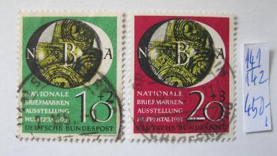 Německo BRD - razítkovaná série známek katalogové číslo 141/142