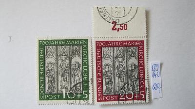 Německo BRD - razítkovaná série známek katalogové číslo 139/140