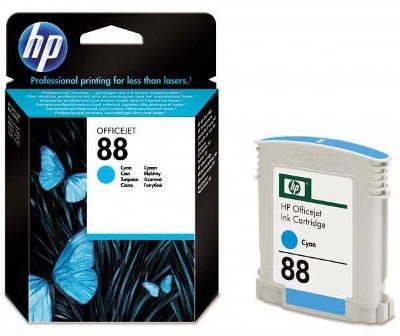 Nová originální Inkoustová náplň HP 88 azurová - C9386AE