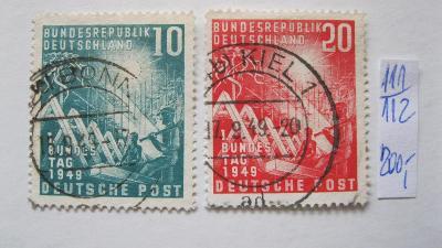 Německo BRD - razítkované známky katalogové číslo 111/112