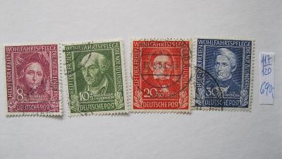 Německo BRD - razítkované známky katalogové číslo 117/120