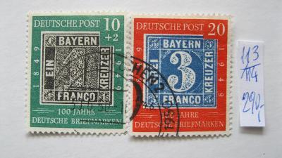 Německo BRD - razítkované známky katalogové číslo 113/114