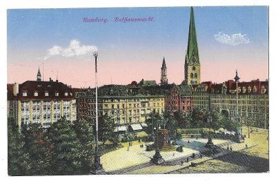 Pohlednice, Hamburg, Německo, MF, 39/61