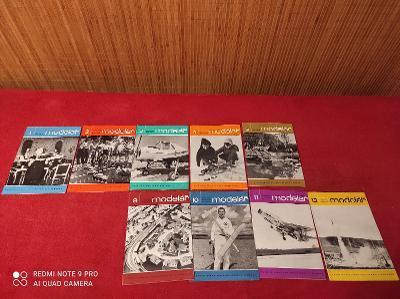Časopisy Modelář 1965 1-5 / 9-12
