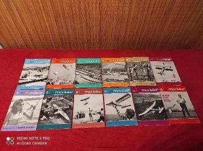 Časopisy Modelář 1968 kompletní ročník!