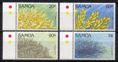 Samoa-Koráli 1994**  Mi.768-771 / 7 €