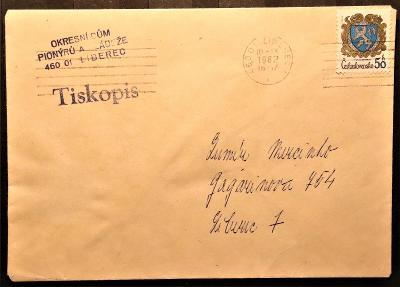 ČSSR II - dopisní obálka - pošta Liberec