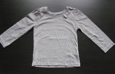 Dívčí šedé tričko s mašlí, vel. 104