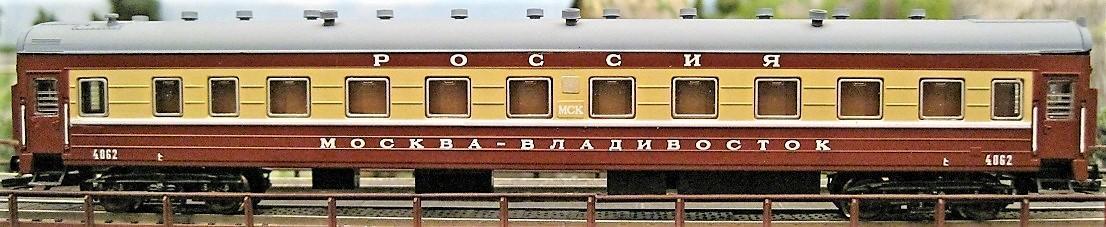 TT-MODEL 2040-40 Osobní vůz 1. třídy RUSKO Vladiv SZD Ep.IV / TT 1:120
