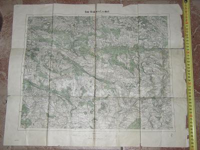 mapa Dvůr Králové - 1932