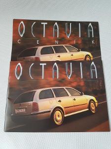 Orig. prospekt ceník reklamní brožura Škoda Octavia LX GLX SLX Combi