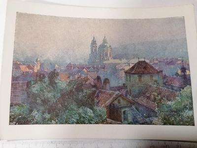 Pohled Praha Malá Strana, kostel sv Mikuláše