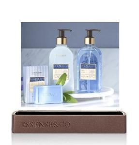 Sada Essence & Co s kosatcem (dekor.podnos+sprch. gel+mléko+mýdlo )