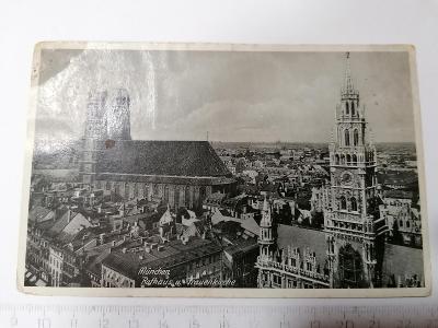 Pohled Munchen Rathaus