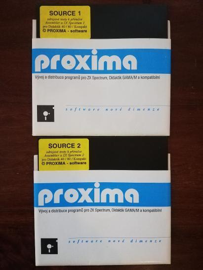 ZX SPECTRUM a komp. Diskety 1,2 Zdrojové texty k příručce  - Historické počítače