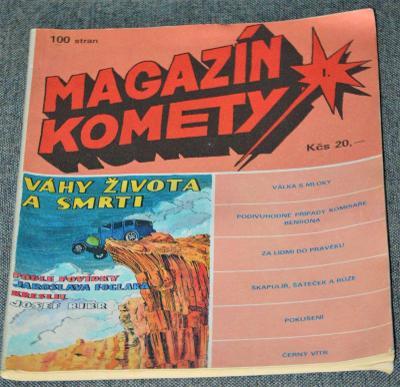 Magazín KOMETY - I., 100 stran, 20 Kčs, 3x foto, TIP !!!