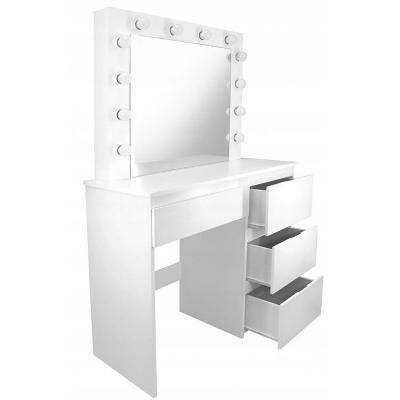 Toaletní stolek se zrcadlem a osvětlením hollywood LED