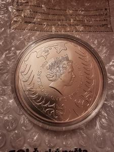 Stříbrná pětiuncova Investiční mince Český Lev 2021