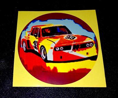 """BMW CSL """"Batmobil"""" (bílá samolepka pr.7-1x)"""