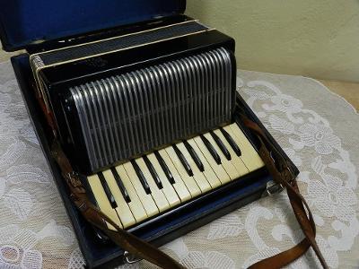 Stará Harmonika s kufrem