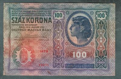 100 korun 1912 serie 1679 bez přetisku