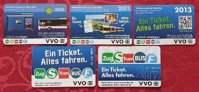 Kartičkové kalendáře/6 – Německo doprava / 2010-17 – 5 ks