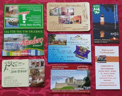 Kartičkové kalendáře/10 – Německo turistika 2010 – 7 ks
