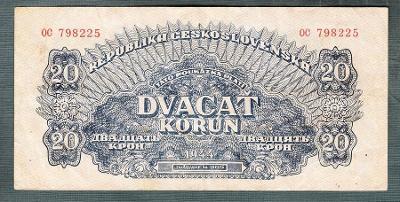 20 korun 1944 serie OC NEPERFOROVANA
