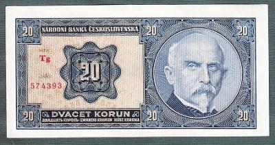 20 korun 1926 serie Tg NEPERFOROVANA stav 0