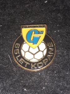 Odznak TJ Gottwaldov 65 let kopané