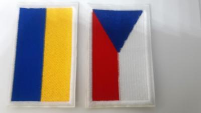 Akce! 2 našivky ČESKO a UKRAJINA; EVROPA, NE RUSKO