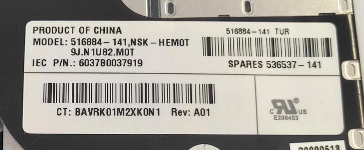 Klávesnice 516884-141 z Hp probook 4510s vadná - Notebooky, příslušenství