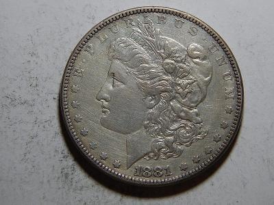 USA 1 Dollar Morgan 1881 XF č25617