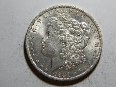 USA 1 Dollar Morgan 1884O XF-UNC č25616