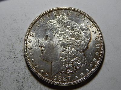 USA 1 Dollar Morgan 1887 UNC č25615