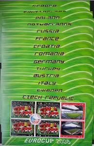 St Vincent 2008 fotbal, 16ks TL týmů Euro 2008 vč. Česka kat. 96 Euro!