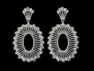 Diamantové stříbrné naušnice- 0,50Ct