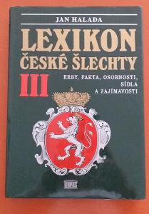 LEXiKON  CESKE SLECHTY-JAN HALADA