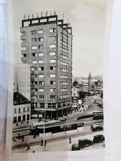 Pohled Bratislava Stalinovo náměstí  - Pohlednice