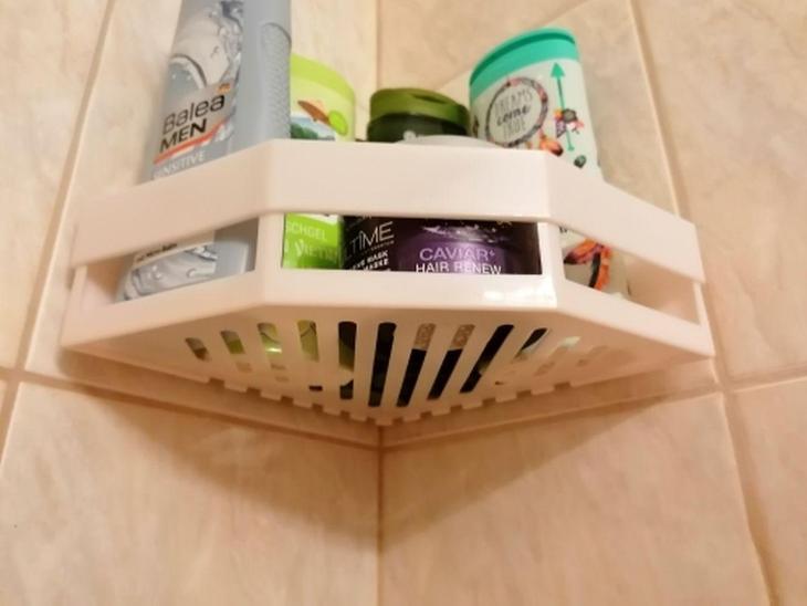 Koupelnová polička plast 1 ks - Nábytek